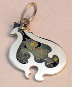 Silver, Cloisonne Enamel